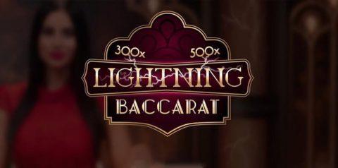 Logo permainan Lightning Baccarat